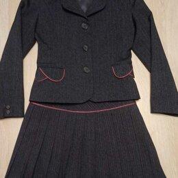 Комплекты и форма - Школьная форма для девочек тройка юбка, пиджак и жилет, 0