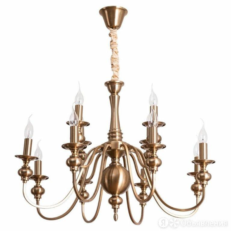 Подвесная люстра Arte Lamp Passoni A6097LM-12PB по цене 24360₽ - Люстры и потолочные светильники, фото 0
