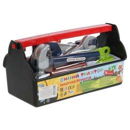 Детские наборы инструментов - Набор строительных инструментов «Синий трактор» ящик, 29х13,5х14 см, 0