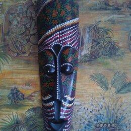 Интерьер - Африканские маски точечная роспись, 0