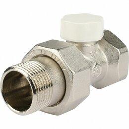 """Комплектующие - Аксессуары для радиаторов STOUT Клапан запорно-балансировочный прямой 3/4"""" STOUT, 0"""