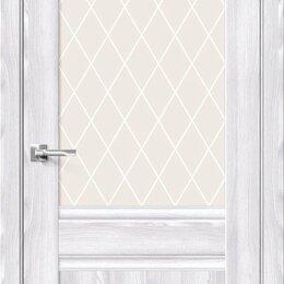 Межкомнатные двери - Межкомнатная дверь с экошпоном Прима-3.1 Riviera Ice   White Сrystal, 0