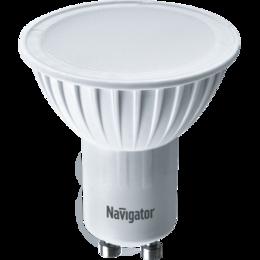 Лампочки - Лампа светодиодная FR PAR16 7Вт GU10 4000К 560Лм 50х57мм Navigator, 0