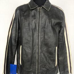 Куртки - Куртка натуральная кожа эффект потертости р.54-56 /11016/, 0