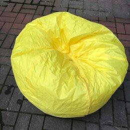 Кресла-мешки - Жёлтый и оранжевый пуф мешок круглый, 0