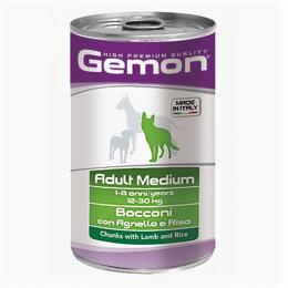 Корма  - GEMON DOG консервы для собак паштет ягненок 400г , 0