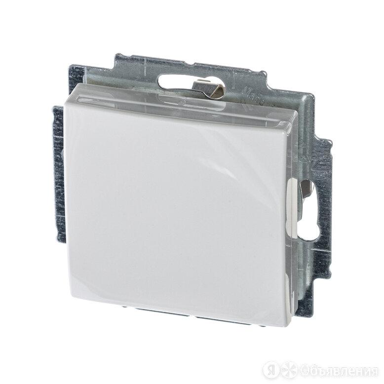 Розетка одноместная Basic55 скрытой установки с заземлением (с крышкой) альпи... по цене 468₽ - Электроустановочные изделия, фото 0