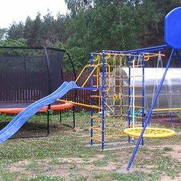 Игровые и спортивные комплексы и горки - Модель № 3 с горкой-волна 3,0 метра, качелями-гнездо и баскетбольным кольцом, 0