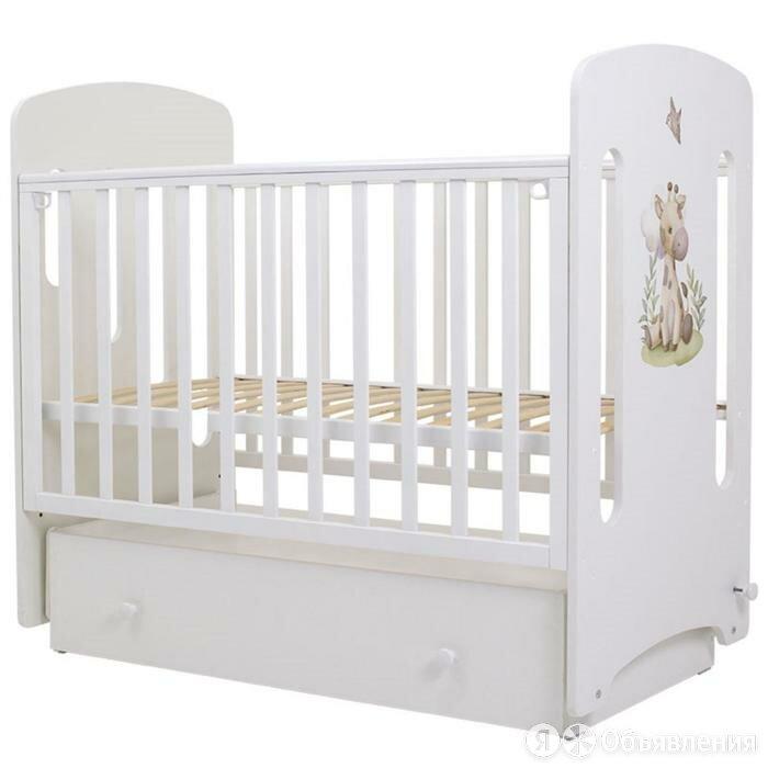 Кровать детская «Каролина», 120х60 см, маятник, МДФ, принт, цвет белый по цене 13398₽ - Кровати, фото 0