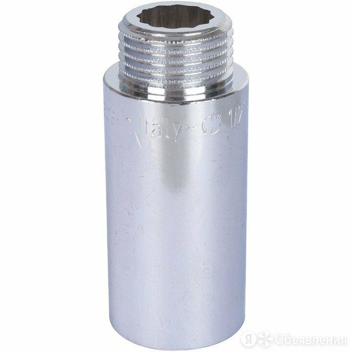 """Удлинитель НН 3/4""""x70, xромированный Stout по цене 412₽ - Канализационные трубы и фитинги, фото 0"""