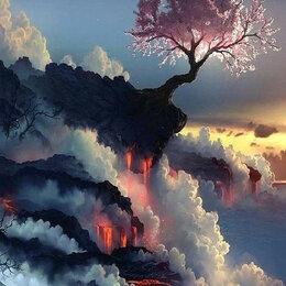 Комплектующие - Цветущая сакура на краю вулкана Артикул : GX 5256, 0