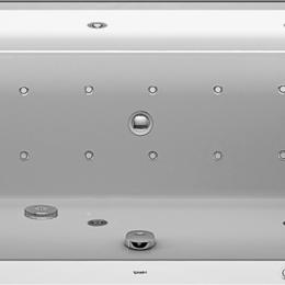 Гидромассажеры - Ванна акриловая Duravit Happy D2 1700х750х480 водн-возд.массаж+спина(Р), накл..., 0