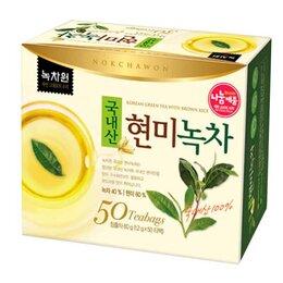 Продукты - Чай травяной зеленый с коричневым рисом Nokchawon, 50 п, 0