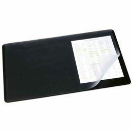 Скатерти и салфетки - Накладка д/стола  400*650мм  Durable, черная, с прозрачным листом, 0