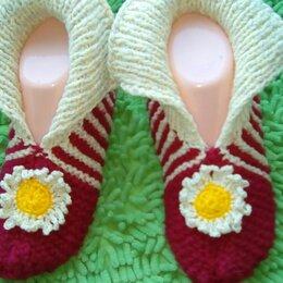 Рукоделие, поделки и сопутствующие товары - Вязанные носочки для дома, 0