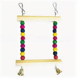 Игрушки и декор  - Игрушка для мелких попугаев «Подвес разноцветный малый» , 0