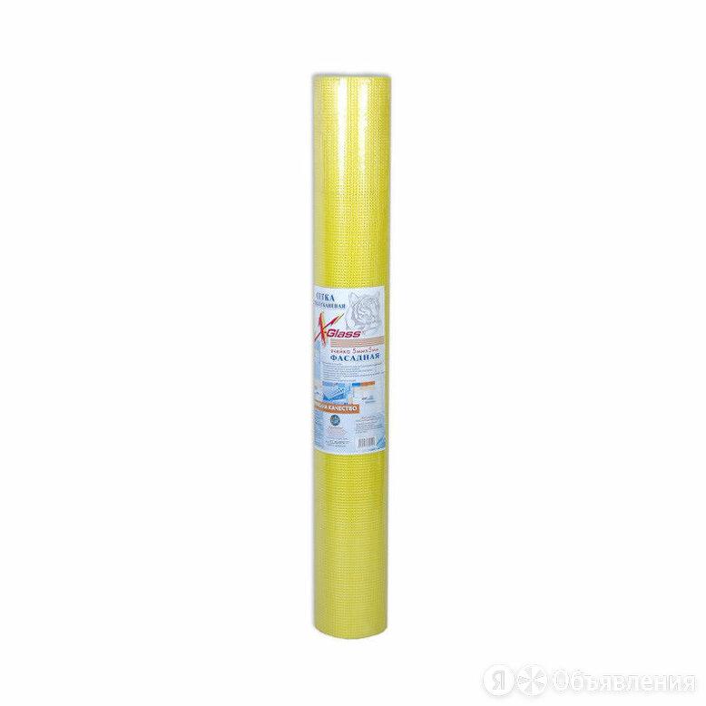 X-glass Сетка фасадная X-Glass ЖЕЛТАЯ 5 мм * 5 мм (1 м * 20 м) 145 гр по цене 795₽ - Прочие штукатурно-отделочные инструменты, фото 0