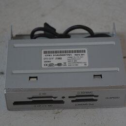 """Устройства для чтения карт памяти - Картридер внутренний 3.5"""" Sema CFD-321F/T4XS, серебристый, 0"""