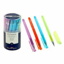Новогодний декор и аксессуары - Ручка шар.  Bruno Visconti  CityWrite  CREATIVE, синяя 1.0мм, корпус ассорти (24, 0