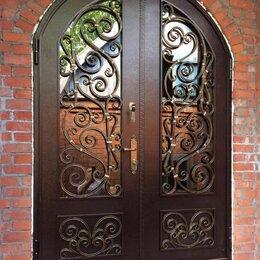 Входные двери - Входные кованые двери в частный дом арочные изготовление, 0