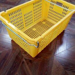 Корзины, коробки и контейнеры - Корзина 79-83л. пищевая, пластиковая перфорированная усиленная, 0