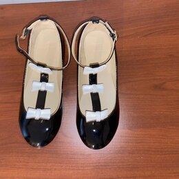 Балетки, туфли - Туфли для девочки Janie and Jack  лаковые, 0