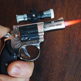Пепельницы и зажигалки - Миниатюрный пистолет-зажигалка в виде нагана , 0