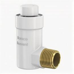 Воздухоотводчики - Автоматический поплавковый воздухоотводчик угловой Flexvent H 1/2 белый (27711), 0
