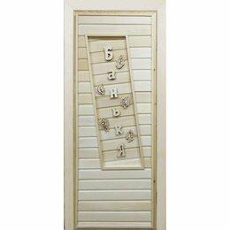 Двери - Дверь банная глухая «Банька», 0
