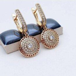 Серьги - Серьги Zirconia Gold Versace Style , 0