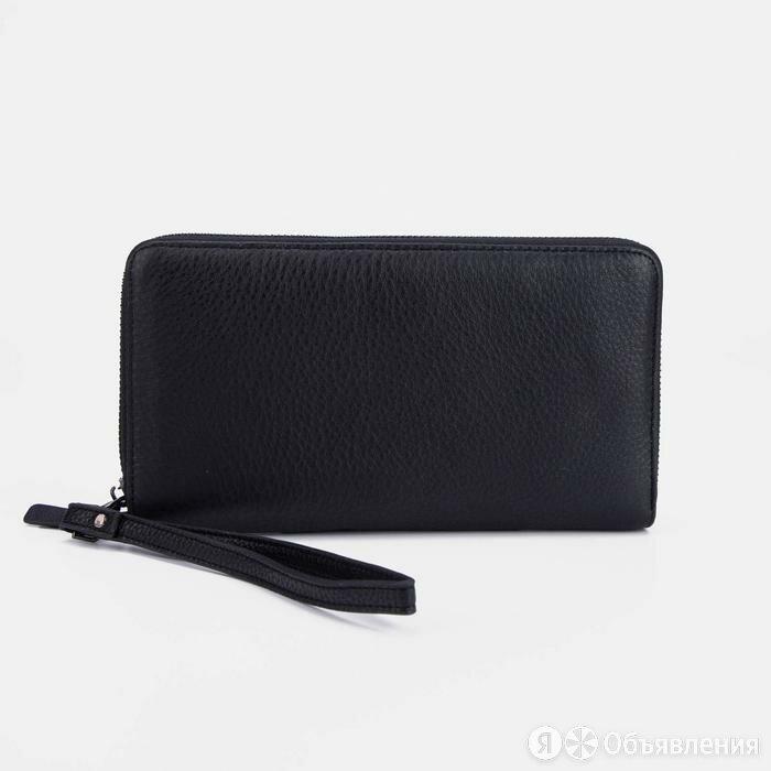 Клатч, отдел на молнии, ручка, цвет чёрный по цене 3955₽ - Кошельки, фото 0