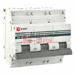 Защитная автоматика - Автоматический выключатель EKF PROxima BA47-100 3P 100А 10кА характеристика С, 0