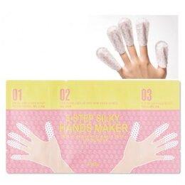 Аксессуары - Маска для рук и ногтей 3хэтапная A'PIEU 3-Step Silky Hands Maker 4мл/2мл*2/3..., 0