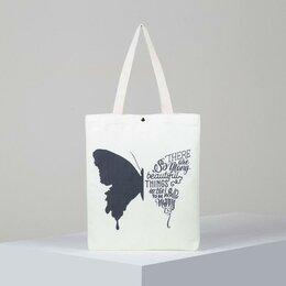 Дорожные и спортивные сумки - Сумка текстильная, отдел на магните, без подклада, цвет белый, 0