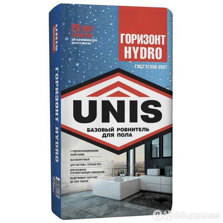 Стяжка Юнис Горизонт 25кг Hydro (Гидро) по цене 190₽ - Строительные смеси и сыпучие материалы, фото 0