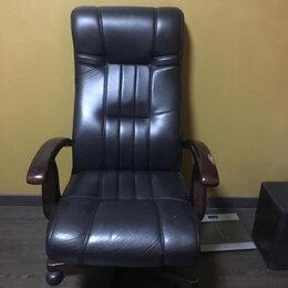 Компьютерные кресла - Кресло руководителя кожаное, 0