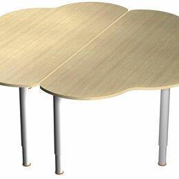 Столы - Стол «Ромашка» (2 части) на регулируемых ножках, 0