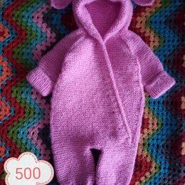 Комбинезоны - Комбинезон зайка для новорожденных спицами, 0