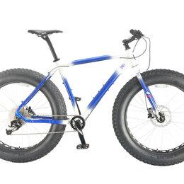 "Велосипеды - Велосипед INOBIKE Traveler Dad StarBurst 26"", 21"", фэтбайк, белый/синий, 0"