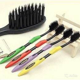 Зубные щетки - Бамбуковые зубные щетки (4шт в комплекте), 0