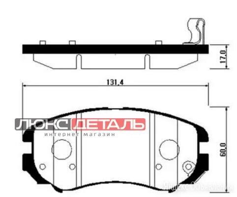 HSB HP0009 Колодки тормозные дисковые передн HYUNDAI SONATA 01-09, TUCSON 04-... по цене 993₽ - Тормозная система , фото 0