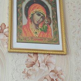 Картины, постеры, гобелены, панно - Алмазная мозаика казанской божьей матери as70909, 0
