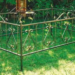 Ритуальные товары - Металлическая оградка с калиткой, 0