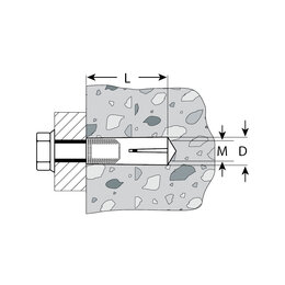Анкерные болты - Анкер забивной, 16х65 мм, 1 шт,…, 0