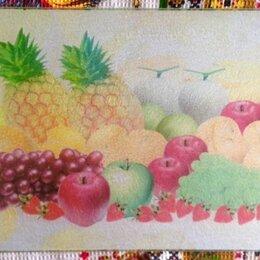 Разделочные доски - Стеклянная разделочная доска фруктовое изобилие, 0