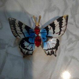 Броши - Брошь бабочка с драгоценными камнями, 0
