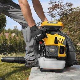 Воздуходувки и садовые пылесосы - Ранцевая бензомоторная воздуходувка Stiga SBP 375, 0