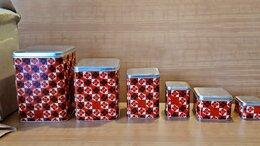 Ёмкости для хранения - Набор банок сыпучих продуктов /винтаж/ СССР/…, 0
