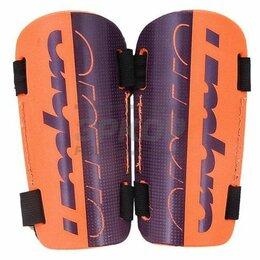 Спортивная защита - Щитки футбольные Umbro Velose Slip пластик фиолетово-оранж, 0