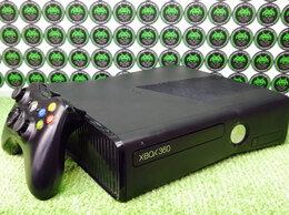 Игровые приставки - Xbox 360 Slim Black Freeboot 250Gb (б/у), 0